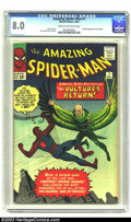 Silver Age (1956-1969):Superhero, Amazing Spider-Man #7 (Marvel, 1963) CGC VF 8.0 Cream to off-white pages. An immediate hit with fans, the Vulture was the fi...
