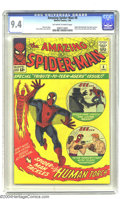 Silver Age (1956-1969):Superhero, Amazing Spider-Man #8 (Marvel, 1964) CGC NM 9.4 Off-white to whitepages. In addition to the usual superior work from Stan L...