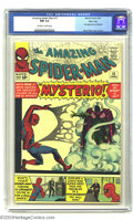 Silver Age (1956-1969):Superhero, Amazing Spider-Man #13 Massachusetts pedigree (Marvel, 1964) CGC NM9.4 Off-white to white pages. Here we have the first app...