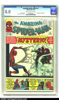 Silver Age (1956-1969):Superhero, Amazing Spider-Man #13 (Marvel, 1964) CGC VF 8.0 Cream to off-whitepages. In this early issue, Spider-Man comes face-to-fac...