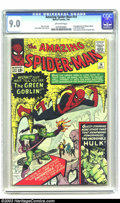 Silver Age (1956-1969):Superhero, Amazing Spider-Man #14 (Marvel, 1964) CGC VF/NM 9.0 Off-whitepages. You want a key issue? We've got a key issue! Presented ...