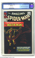 Silver Age (1956-1969):Superhero, Amazing Spider-Man #28 (Marvel, 1965) CGC NM 9.4 Off-white to white pages. Origin and first appearance of the Molten Man as ...