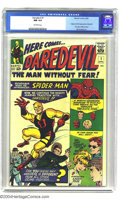 Silver Age (1956-1969):Superhero, Daredevil #1 (Marvel, 1964) CGC NM 9.4 Off-white pages. As Phase One of Marvel's Silver Age resurgence was winding down, Sta...
