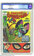 """Bronze Age (1970-1979):Superhero, Amazing Spider-Man #94 (Marvel, 1971) CGC NM+ 9.6 Off-white towhite pages. Aunt May goes ga-ga over """"Beetle""""-mania -- can S..."""