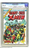 Bronze Age (1970-1979):Superhero, Giant-Size X-Men #1 (Marvel, 1975) CGC VF+ 8.5 Off-white to whitepages. This book not only introduces new X-Men Storm, Nigh...