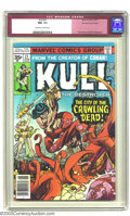 Bronze Age (1970-1979):Miscellaneous, Kull the Conqueror #21 - 35 Cent Price Variant (Marvel, 1977) CGCNM- 9.2 Off-white to white pages. This is one of the rare ...