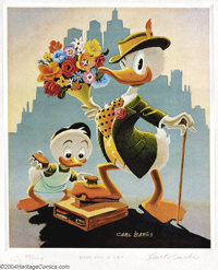 """Carl Barks - Limited Edition Walt Disney's Donald Duck Mini Lithograph """"Dude for a Day"""" 64/100 (Another Rainbo..."""