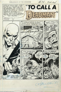 Neal Adams and George Tuska - Original Splash Page Art for Challengers of the Unknown #74 (DC, 1970). DC did some innova...
