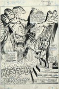 Original Comic Art:Splash Pages, Ross Andru and Sam Grainger - Original Art for Creatures on theLoose #18, page 1 (Marvel, 1972). In the three short days he...
