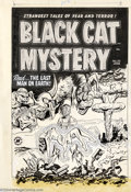 Original Comic Art:Covers, Al Avison - Original Cover Art for Black Cat Mystery #35 (Harvey,1950s). Boy, talk about having a bad day! This gem from th...