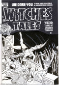 Original Comic Art:Covers, Al Avison - Original Cover Art for Witches Tales #3 (Harvey, 1951).With a witch on one side, and a horde of screaming, hood...