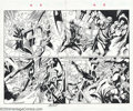Original Comic Art:Splash Pages, Mark Bagley and Art Thibert - Original Art for Ultimate Spider-Man#12, pages 2 and 3 (Marvel, 2001). This double-page sprea...