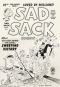 Original Comic Art:Covers, George Baker - Original Cover Art for Sad Sack #10 (Harvey, 1950).From the original run of Sad Sack comics comes this w...