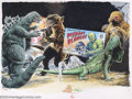 Original Comic Art:Covers, Terry Beatty - Original Cover Art for Scary Monsters Magazine #19(1996). A collection of oversized critters highlights this...