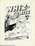 Original Comic Art:Covers, C. C. Beck and Pete Constanza - Original Cover Art for Whiz Comics#17 (Fawcett, 1941). Captain Marvel, the red-clad hero af...