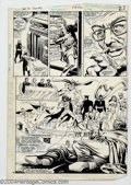 Original Comic Art:Splash Pages, Howard Bender and Alfredo Alcala - Original Art for America vs. theJustice Society, pages 28 and 29 (DC, 1983). Per Degaton...