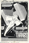 Original Comic Art:Splash Pages, John Buscema and Tom Palmer - Original Art for The Avengers #255,page 1 (Marvel, 1985). Spectacular splash page by the immo...
