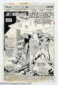 Original Comic Art:Splash Pages, Sal Buscema and Mike Esposito - Original Art for Marvel Team-Up#46, page 1 (Marvel, 1976). Spidey has good reason to be dis...