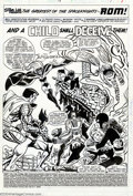 Original Comic Art:Splash Pages, Sal Buscema and Al Milgrom - Original Art for Rom #18, page 1(Marvel, 1981). The child is evil -- but only the stalwart Spa...