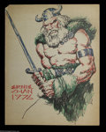 Original Comic Art:Splash Pages, Ernie Chan - Original Art Pin Up of a Northern Barbarian (NoPublisher, 1976). The subject matter of this gigantic drawing i...