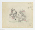 Original Comic Art:Miscellaneous, Disney Studios - Original Key Animation Drawing for Woodland Cafe (Disney, 1937). This energetic sketch was made by one of t...