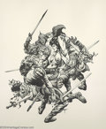 Original Comic Art:Splash Pages, Stephen Fabian - Original Pin Up Art (Unpublished, 1975). Sometimesit's fun to be a barbarian; just ask these guys. They ma...
