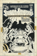 Original Comic Art:Covers, Ramona Fradon Original Cover Art for Super-Friends #10 (DC, 1977).How fun is this Fradon cover? Wow! All the major DC super...