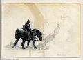 "Original Comic Art:Sketches, Frank Frazetta - Original Sketch, ""Death Dealer"" (Undated). Out of the cold mist and shadow rides a mysterious warrior, clad..."
