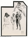 Original Comic Art:Sketches, Frank Frazetta - Original Sketches of Nude Studies (undated). Emotional and expressive, these fine sketches were formed by t...