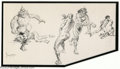 Original Comic Art:Sketches, Frank Frazetta - Original Sketch of The Defiant One (undated). A massively made, bearded warrior, with a huge, bloodied knif...
