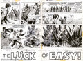 "Original Comic Art:Complete Story, Russ Heath - Original Art for Our Army at War #249, Complete14-page Story ""The Luck of Easy"" (DC, 1972). Through the capabl..."