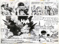 Original Comic Art:Splash Pages, Russ Heath - Original 2- Page Splash for Our Army at War #279 (DC,1975). The dynamic double-page splash story sequences wer...