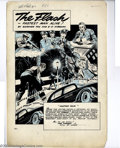 Original Comic Art:Splash Pages, E. E. Hibbard - Original Art for All-Flash Quarterly #2, page 51(DC, 1941). A truly outstanding early Golden Age splash, th...