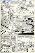 Original Comic Art:Splash Pages, Carmine Infantino - Original Art for The Brave and the Bold #194,page 19 (DC, 1982). The gorgeous Professor Wye uses her ch...