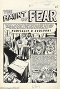 Original Comic Art:Splash Pages, Graham Ingels - Original Art for Crime Suspenstories # 5, page 1(EC, 1951). Who better to render this terrifying tale of ma...