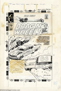 Original Comic Art:Covers, Jack Keller - Original Cover Art for Dragin' Wheels #58 (Charlton,1972). There's no thrill quite like the roar of a drag ca...