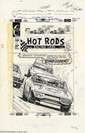 Original Comic Art:Covers, Jack Keller - Original Cover Art for Hot Rods and Racing Cars #120(Charlton, 1972)....