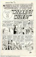 Original Comic Art:Panel Pages, Jack Kirby and Dick Ayers, Original Art Panel Page from StrangeTales #102 (Marvel, 1962). This issue of Strange Tales f...