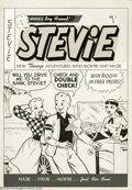 Original Comic Art:Covers, Warren Kremer (Attributed) - Original Cover Art for Stevie #1(Mazie, 1952). As the comics world went teen-ager crazy in the...