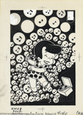 Original Comic Art:Covers, Warren Kremer - Original Cover Art for Little Dot (Harvey, 1968).The spotty li'l darlin' is rockin' out to her portable pho...