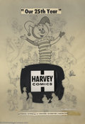 "Original Comic Art:Miscellaneous, Warren Kremer - Original Art for Harvey House Ad (Harvey, 1977).Harvey began publishing the ""Harvey Famous Cartoon"" charact..."