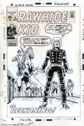 Original Comic Art:Covers, Larry Lieber - Original Cover Art for Rawhide Kid #77 (Marvel,1970). Johnny Bart, a.k.a. The Rawhide Kid, won't draw his pi...