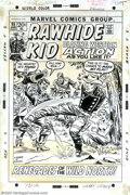 Original Comic Art:Covers, Larry Lieber and Frank Giacoia - Original Cover Art for Rawhide Kid#95 (Marvel, 1972). The Rawhide Kid makes his play on th...