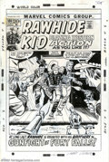 Original Comic Art:Covers, Larry Lieber - Original Cover Art for Rawhide Kid #100 (Marvel,1972). The Rawhide Kid and his brothers find themselves in t...
