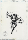 Original Comic Art:Covers, Steve Lightle - Original Cover for Flash #1,000,000 (DC, 1998).Steve Lightle picks up the pace in this cover image from DC'...
