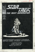 Original Comic Art:Covers, Jerome Moore - Original Cover Art for Star Trek: The NextGeneration #6 (DC, 1990). Geordi's former lover must feed bytakin...