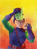 Original Comic Art:Sketches, Gray Morrow - Original Green Goblin Trading Card Art (Fleer/Skybox, 1996). This vivid, colorful painting of the Green Goblin...