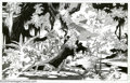 Original Comic Art:Sketches, Alex Nino - Original Art Horror Illustration (10-22-92). A war among skeletons is the subject of this gorgeous and evocative...