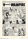"Original Comic Art:Complete Story, Howard Nostrand - Original Art for Flip #1, Complete 5-Page Story,""V...for Wampire"" (Harvey, 1954). Real vampires aren't bo..."