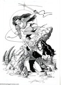 Original Comic Art:Splash Pages, George Perez - Original Shi Poster Art for Crimson Plague (1996).George Perez shows his mastery at drawing the beautiful fe...